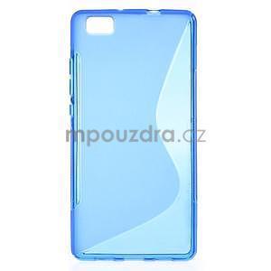 Modrý S-line gelový obal na Huawei Ascend P8 Lite - 1