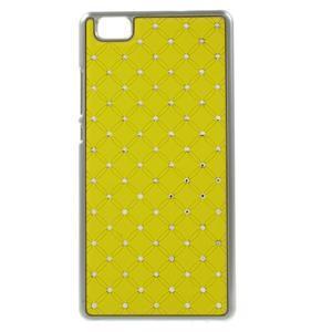 Drahokamový plastový obal na Huawei Ascend P8 Lite - žlutý - 1