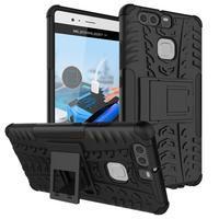 Outdoor ochranný kryt na mobil Huawei P9 - černé - 1/7