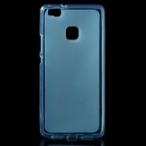 Matný gélový obal pre mobil Huawei P9 lite - modrý - 1