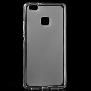 Matný gélový obal pre mobil Huawei P9 lite - transparentné - 1