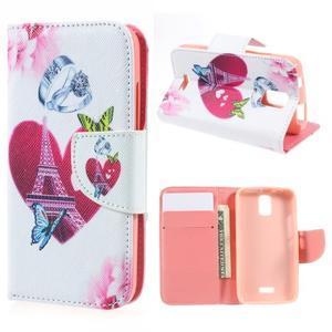 Peňaženkové puzdro na mobil Huawei Y3 a Y360 - srdce - 1