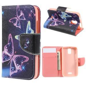 Peněženkové pouzdro na mobil Huawei Y3 a Y360 - kouzelní motýlci - 1