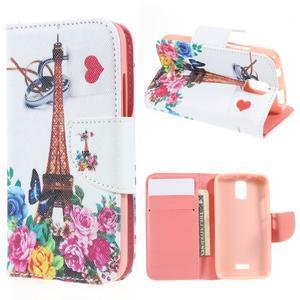 Peněženkové pouzdro na mobil Huawei Y3 a Y360 - Eiffelova věž - 1