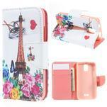Peněženkové pouzdro na mobil Huawei Y3 a Y360 - Eiffelova věž - 1/6