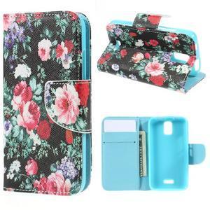 Peňaženkové puzdro na mobil Huawei Y3 a Y360 - kvetiny - 1