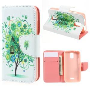 Peněženkové pouzdro na mobil Huawei Y3 a Y360 - zelený strom - 1