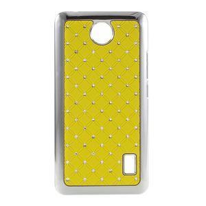 Drahokamový plastový kryt na Huawei Y635 - žltý - 1