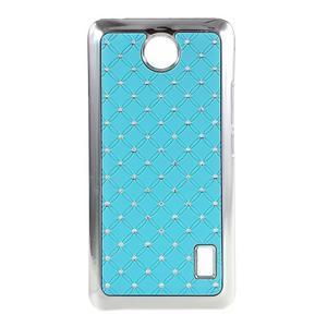 Drahokamový plastový kryt na Huawei Y635 - svetlo modrý - 1