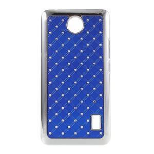 Drahokamový plastový kryt na Huawei Y635 - modrý - 1