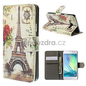 Stylové klopové puzdro na Samsung Galaxy A3 - Eiffel - 1