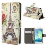 Stylové klopové puzdro na Samsung Galaxy A3 - Eiffel - 1/7