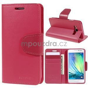 Rose kožené peňaženkové puzdro na Samsung Galaxy A3 - 1