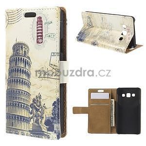 Peňaženkové puzdro na Samsung Galaxy A3 - Šikmá veža - 1