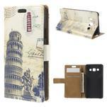 Peňaženkové puzdro pre Samsung Galaxy A3    - Šikmá veža - 1/7