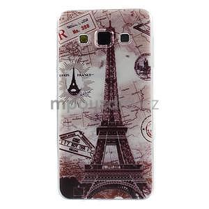 Gélový obal pre Samsung Galaxy A3 - Eiffelova veža - 1