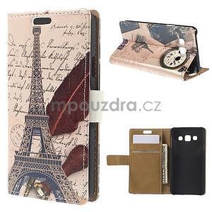 Peňaženkové puzdro na Samsung Galaxy A3 - Eiffelova veža - 1
