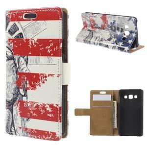 Peňaženkové puzdro pre Samsung Galaxy A3 - Socha Svobody - 1