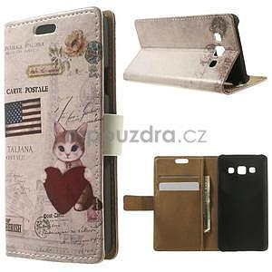 Peňaženkové puzdro pre Samsung Galaxy A3 - americké srdce - 1