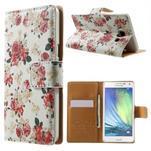 Peňaženkové zapínací puzdro na Samsung Galaxy A5 - růže elegant - 1/7