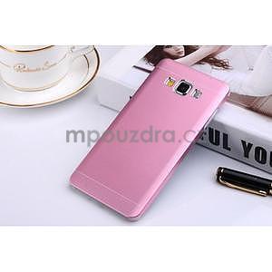 Růžový kovový kryt pre Samsung Galaxy A5 - 1