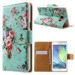 Peňaženkové zapínací puzdro na Samsung Galaxy A5 - kytice - 1/7
