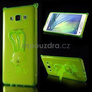 Zelený gélový obal s nastavitelným stojánkem na Samsung Galaxy A5 - 1