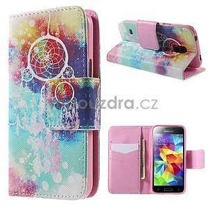 Zapínací peňaženkové puzdro pre Samsung Galaxy S5 mini - snívanie - 1