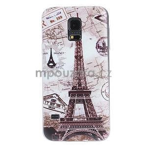 Ultra tenký gélový obal Samsung Galaxy S5 mini - Eiffel - 1