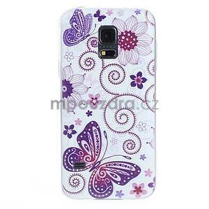 Ultra tenký gélový obal Samsung Galaxy S5 mini - motýlek - 1