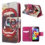 Zapínací peňaženkové puzdro pre Samsung Galaxy S5 mini - oko - 1/7