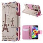 Zapínací peněženkové pouzdro na Samsung Galaxy S5 mini - Eiffelova věž - 1/7