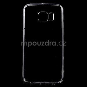 Šedý hybridný gélový obal na Samsung Galaxy S6 Edge - 1
