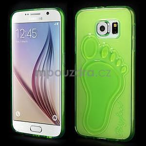 Protiskluzový gélový kryt pre Samsung Galaxy S6 - zelený - 1