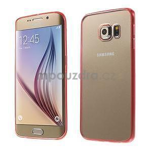 Rose hybridný gélový obal pre Samsung Galaxy S6 Edge - 1