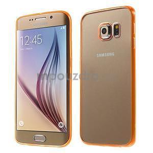 Oranžový hybridný gélový obal na Samsung Galaxy S6 Edge - 1