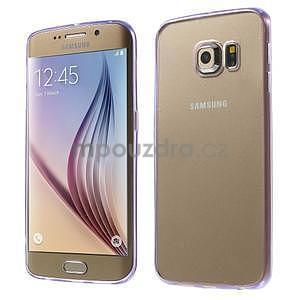 Fialový hybridný gélový obal na Samsung Galaxy S6 Edge - 1
