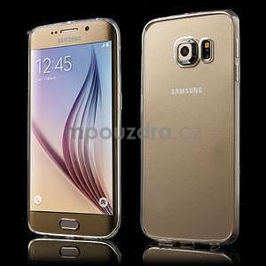 Transparentní hybridný gélový obal na Samsung Galaxy S6 Edge - 1