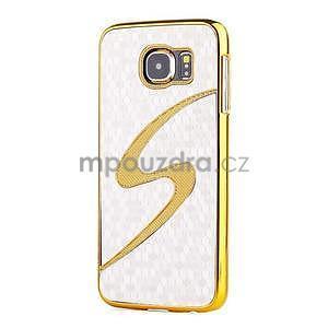Elegantný plastový kryt na Samung Galaxy S6 - biely - 1