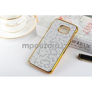 Elegantný plastový kryt na Samsung Galaxy S6 Edge - strieborný - 1