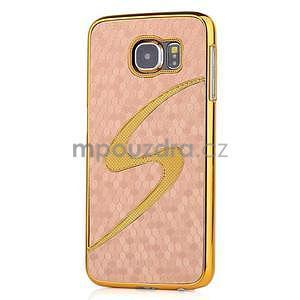 Elegantný plastový kryt pre Samung Galaxy S6 - champagne - 1