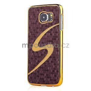 Elegantný plastový kryt pre Samung Galaxy S6 - fialový - 1