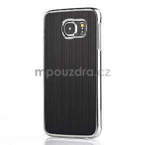 Čierny hliníkový kryt s plastovými lemy na Samsung Galaxy S6