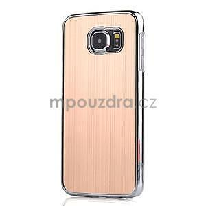 Zlatý hliníkový kryt s plastovými lemy na Samsung Galaxy S6