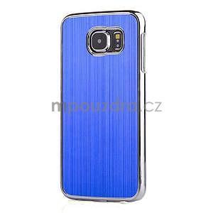 Modrý hliníkový kryt s plastovými lemy pre Samsung Galaxy S6