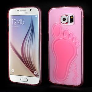 Protiskluzový gélový kryt na Samsung Galaxy S6 - rose - 1