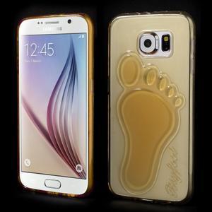 Protiskluzový gélový kryt na Samsung Galaxy S6 - zlatý - 1