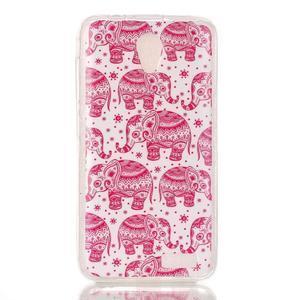 Softy gélový obal pre mobil Lenovo A319 - ružoví slony - 1