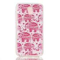 Softy gélový obal pre mobil Lenovo A319 - ružoví slony - 1/3