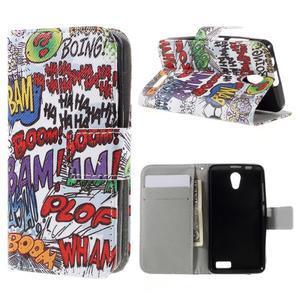 Styles peňaženkové puzdro pre mobil Lenovo A319 - graffiti - 1